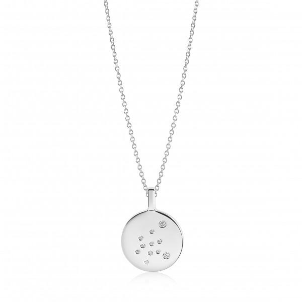 Sif Jakobs Damen Halskette Wassermann Sternzeichen Zodiaco 925er Silber mit weißen Zirkonia