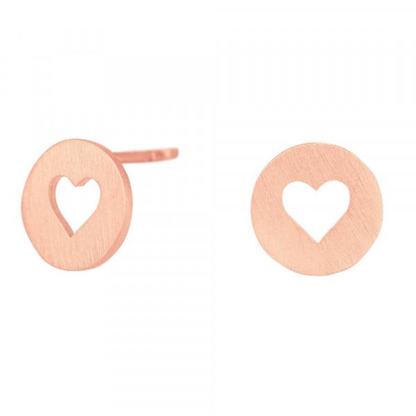 Ohrstecker Damen Herz Ohrringe VALENTINE 9mm