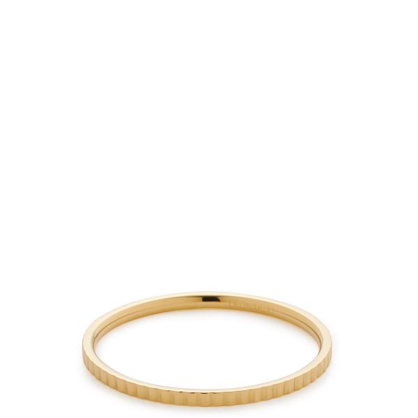 Damen-Ring, CIAO! BY LEONARDO Edelstahl goldfarbene IP-Beschichtung umlaufende Riefenstruktur