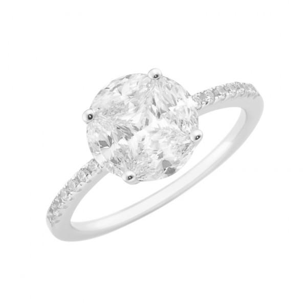 Da-lino Damen Ring mit Zirkonia 925 Silber Gr:58