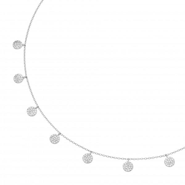 Da-lino Damen Halskette mit Plättchen in 925 Silber
