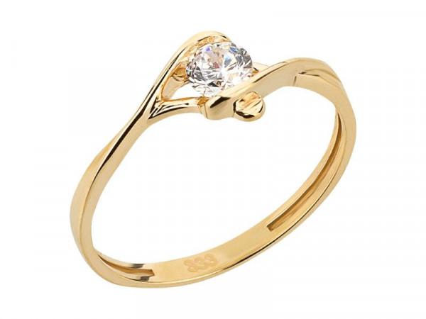 Damen-Ring, DALINO 333 Gold mit Zirkonia-Stein