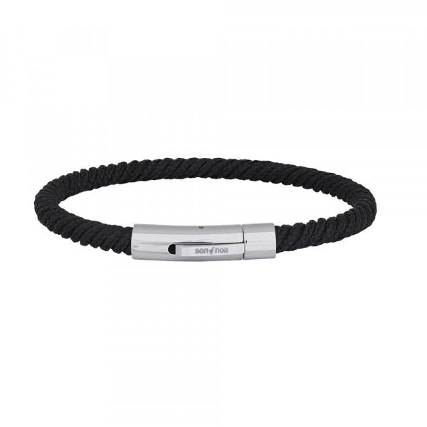 SON of NOA Herren-Armband Armband schwarze Schnur 21cm