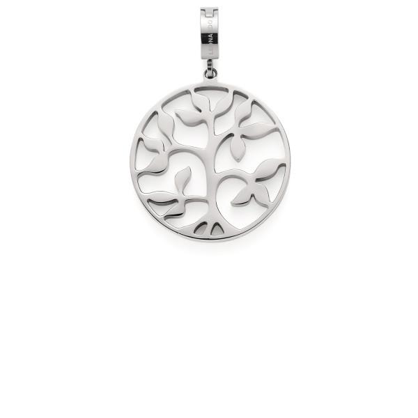 Leonardo Clip & Mix Damen-Anhänger Edelstahl Baum Cammino
