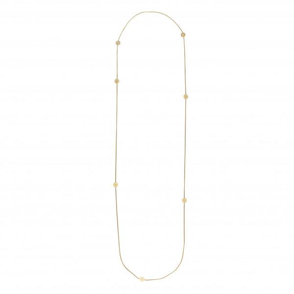 Vergoldete Silber Halskette SPOT 90cm