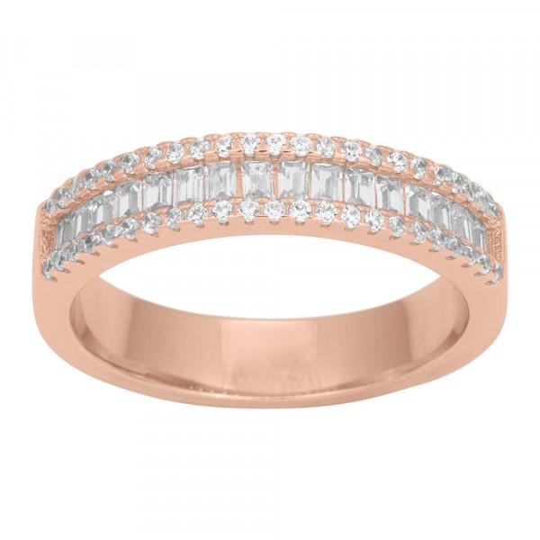 Joanli Nor Damenring Ring AGGA Baguette Zirkonia 5mm