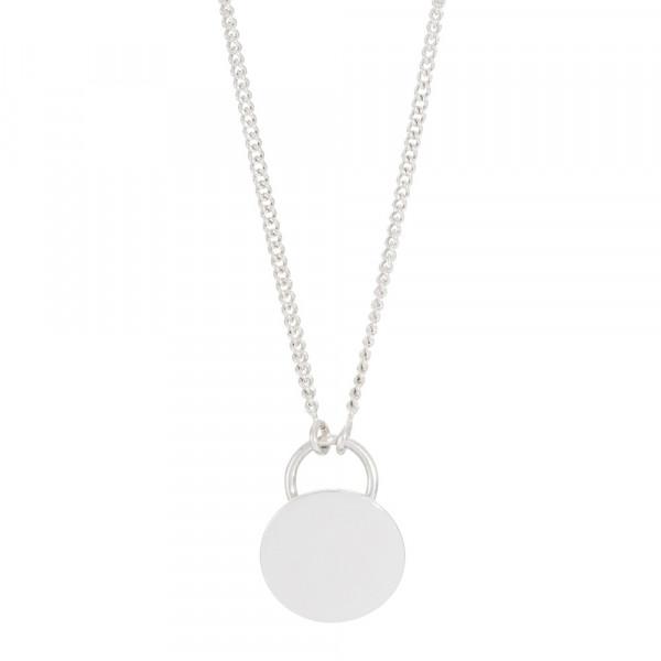 Rhodinierte Silber Halskette GIFT 45+5cm