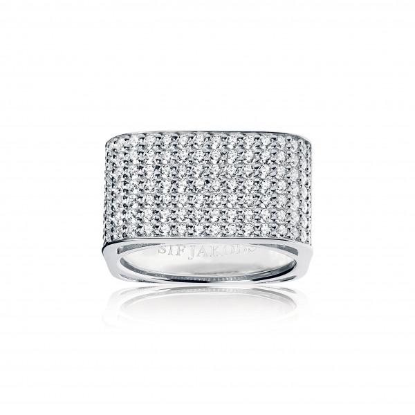 Sif Jakobs Damenring Ring Matera Grande mit weißen Zirkonia SJ-R1066