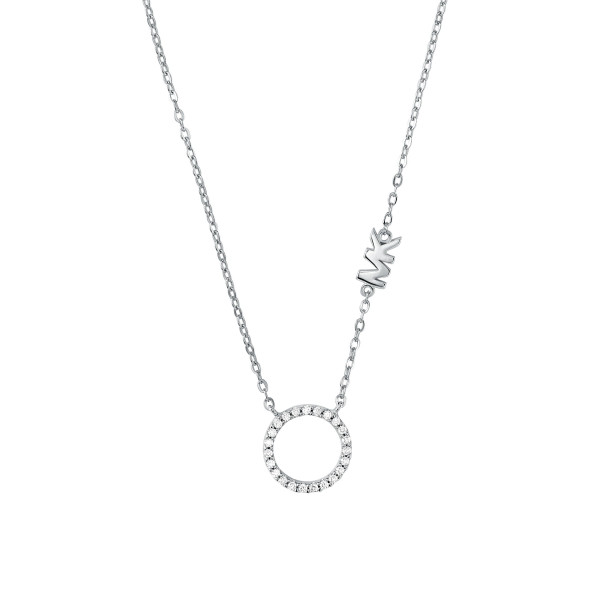 Michael Kors Damen Halskette 925er Silber Anhänger Kreis