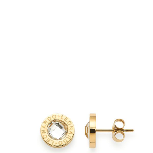 LEONARDO Damen - Ohrstecker Matrix in Gold mit Kristallstein