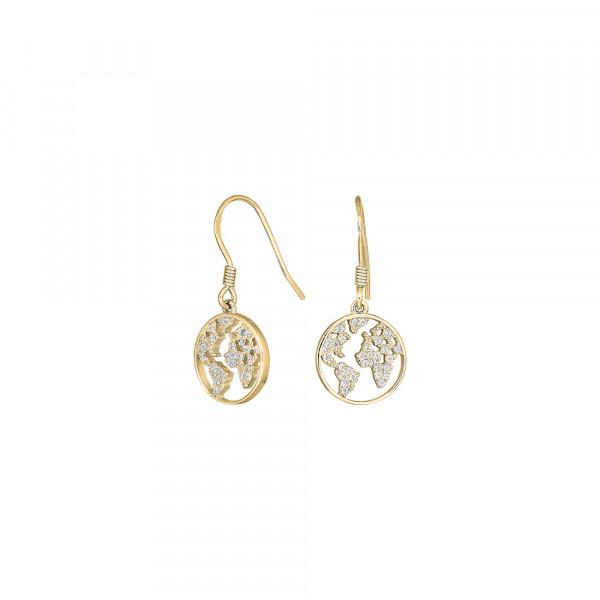Joanli Nor Damen-Ohrhänger aus Sterling Silber mit Zirkonia