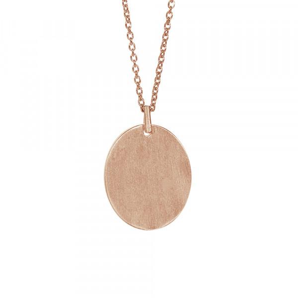 Rosévergoldet Silber Halskette MEMORIES 20mm