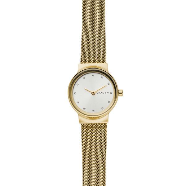 Skagen Uhr Damen mit Milanaisearmband Gold