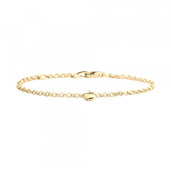 Kinder-Armband, NOA KIDS JEWELLERY 33 Gold mit 8kt Herzanhänger