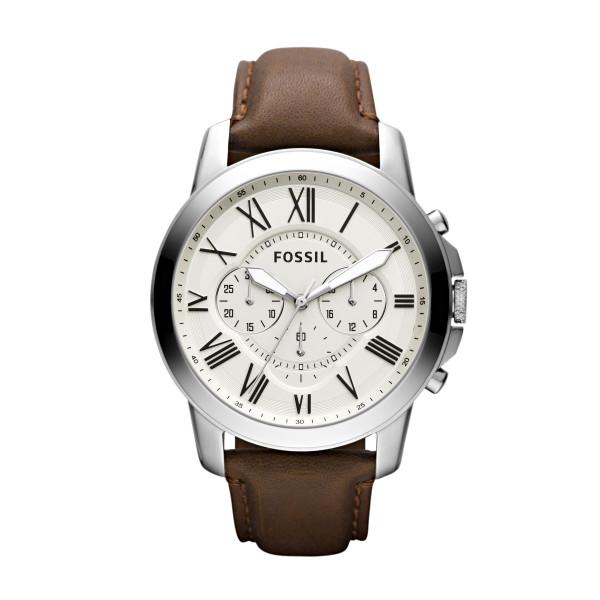 Fossil Grant Chronograph Leder braun Uhr Herren