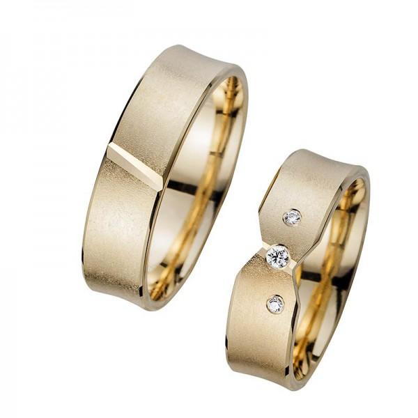 Trauringe Eheringe Gelbgold Cilor Perfect Love Kollektion HR 265A