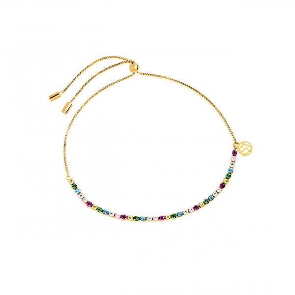 Sif Jakobs Damen Armband Ellera 18K vergoldet mit bunten Zirkonia