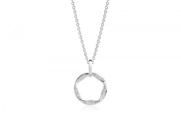 Sif Jakobs Damen Halskette Piccolo 925er Silber mit weissen Zirkonia
