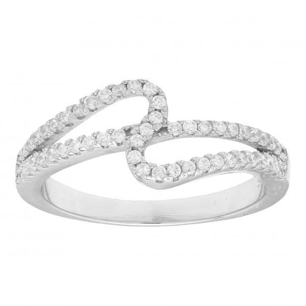 Joanli Nor Damenring Rhodinierter Silber Ring ALAINE