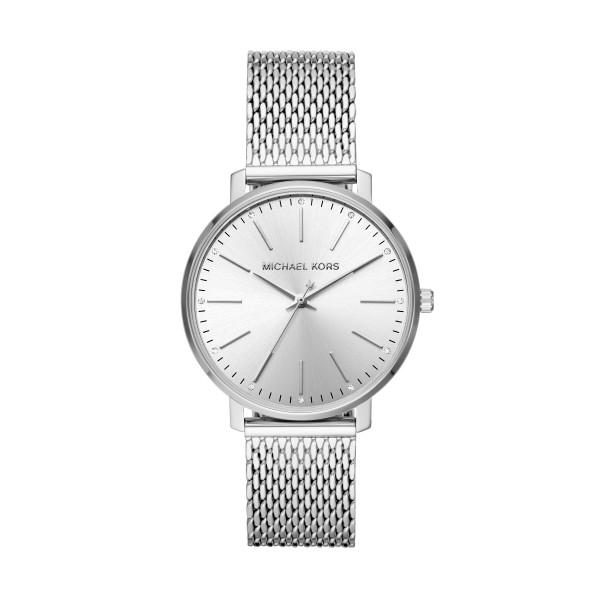 Michael Kors Uhr Damen Mesharmband Silber Edelstahl