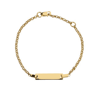 Kinder-Armband, NOA KIDS JEWELLERY 333 Gold mit 8kt Gravurfläche