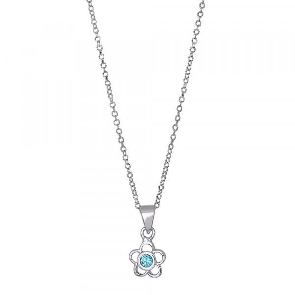 Kindehalskette Rhodiniert Silber Halskette mit Anhänger