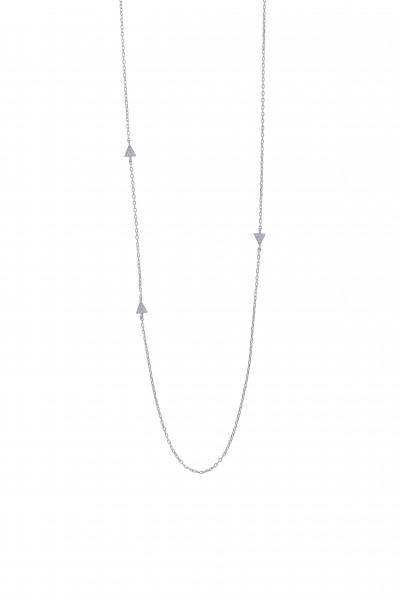 Joanli Nor Rhodinierte Silber Halskette ALVIRA 5 Dreiecke