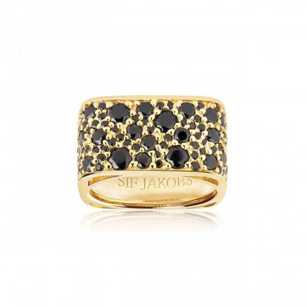 Damenring Ring Novara Quadrato - 18Kvergoldet mit Zirkonia SJ-R1060