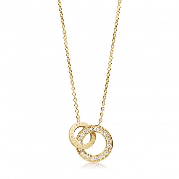 Sif Jakobs Damen Halskette Prato Uno Piccolo 18Kvergoldet mit weißen Zirkonia