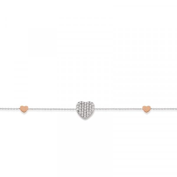 Palido Damen-Armband 585 Weißgold mit Zirkonia Steinchen