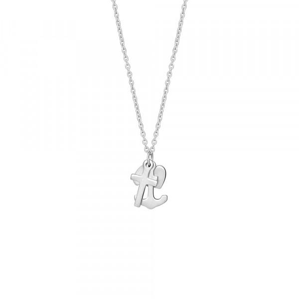 Nordahl Jewellery Damenhalskette Halskette Herz Anker Kreuz SYMBOLS 15mm