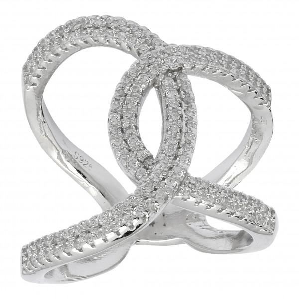 Joanli Nor Damenring Silber rhodinierter Ring ALAINE