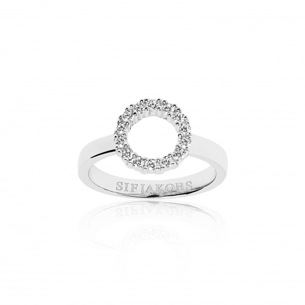 Sif Jakobs Damen Ring Biella Piccolo 925er Silber mit weissen Zirkonia