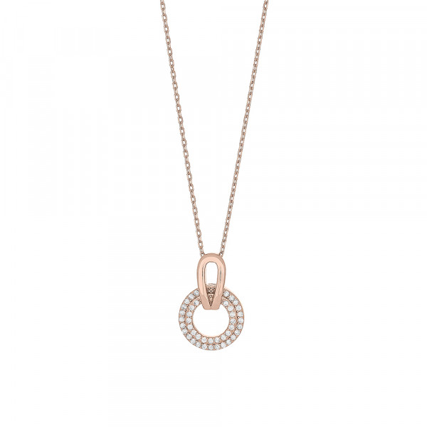 Rosevergoldete Silber Halskette FLAIRNOR 19mm