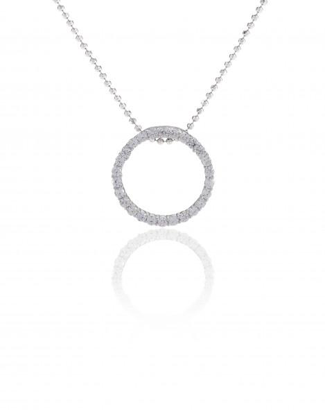 Halskette Biella mit weißen Zirkonia (45 cm)