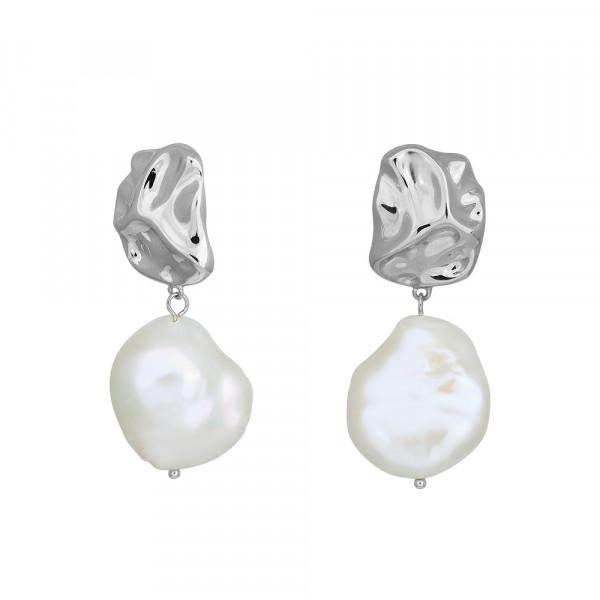 Nordahl Jewellery Damen - Ohrstecker BAROUQUE52 aus Sterling Silber Süsswasserperlen