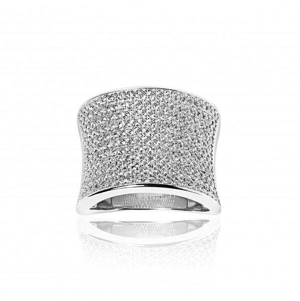 Sif Jakobs Damenring Ring Dinami mit weißen Zirkonia SJ-R0047