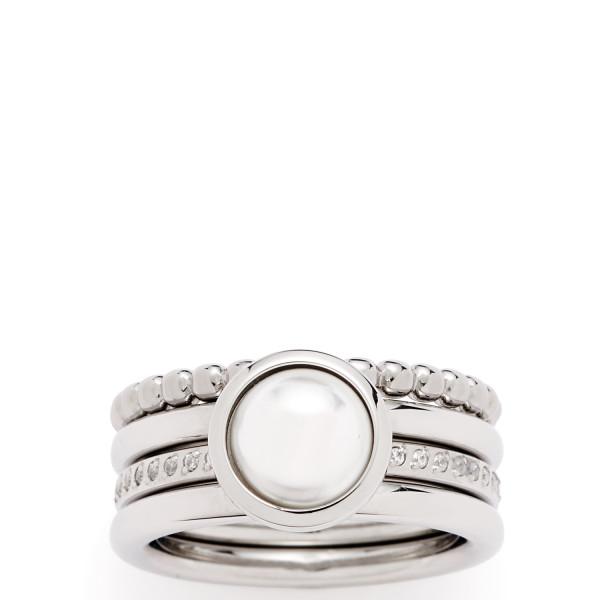 LEONARDO Damen-Ring Ring Perla Set