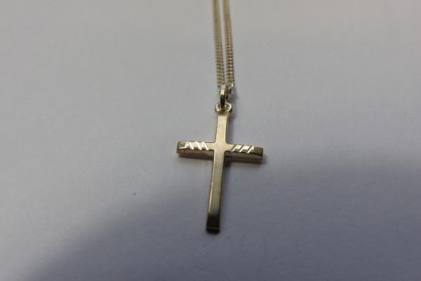 Halskette Kreuz 925er Sterling Silber