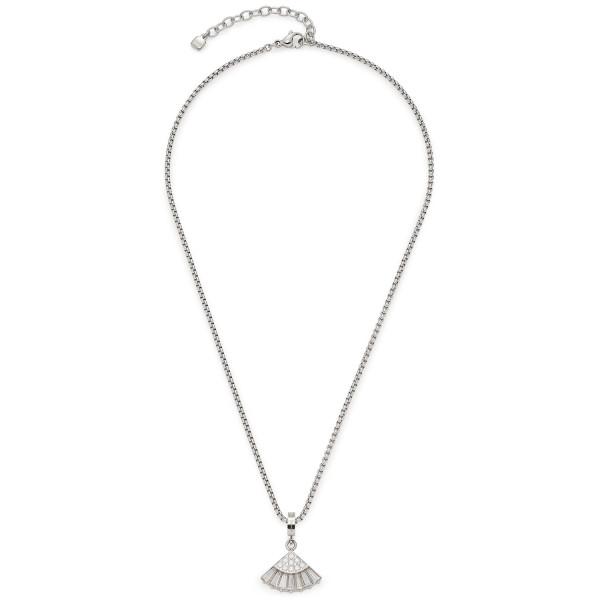 Damen-Halskette, LEONARDO Edelstahl Glaskristalle Zirkonia-Steinchen 42cm Veronica