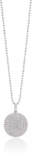 Sif Jakobs Damen Halskette Monterosso 925er Silber mit weißen Zirkonia