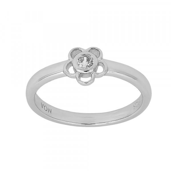 Kinder-Ring, NOA KIDS JEWELLERY silber rhod. mit silbernen Zierstein