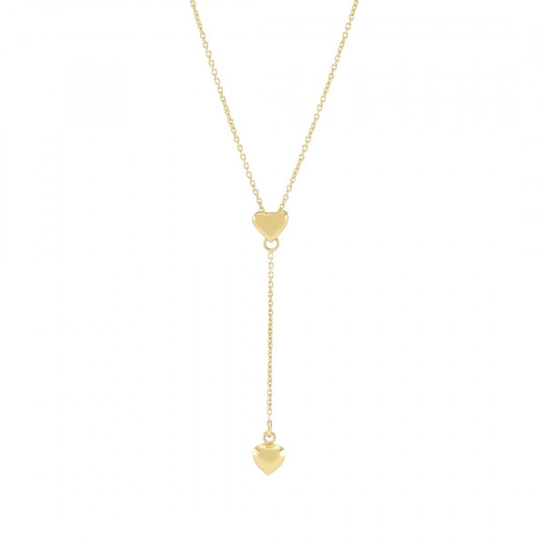 Vergoldete Silber Halskette LOVE Y-Kette 45+5cm