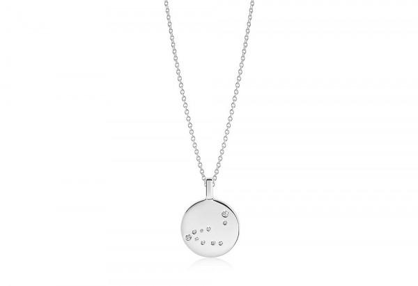 Sif Jakobs Damen Halskette Steinbock Sternzeichen Zodiaco 925er Silber mit weißen Zirkonia
