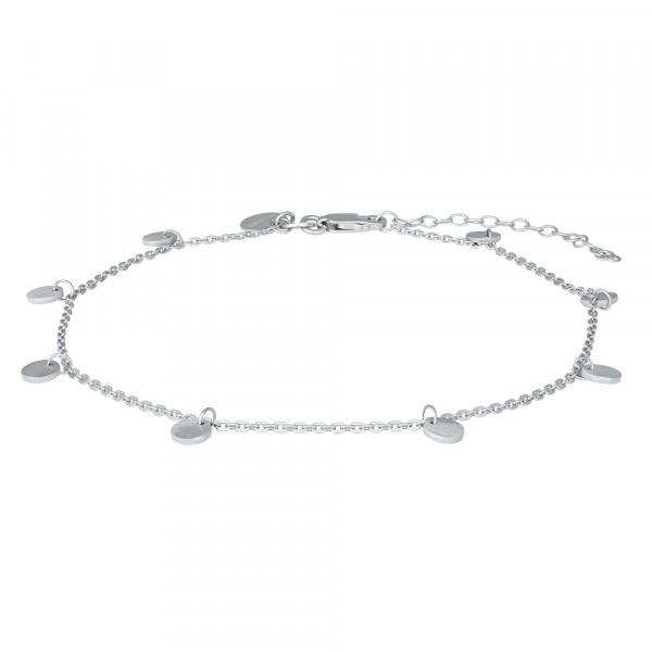 Nordahl Jewellery Damenfusskettchen Rhod. Silber Fusskettchen DISC52 27cm