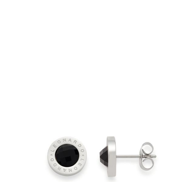 Leonardo Damen-Ohrringe Ohrstecker Matrix schwarz