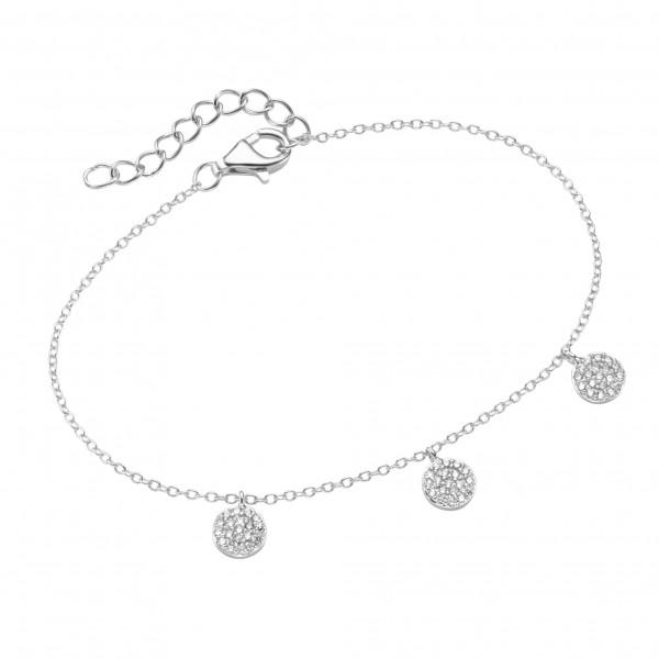 Da-lino 925 Silber Armband mit Plättchen