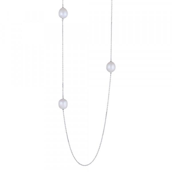 Nordahl Jewellery Damenhalskette Halskette BAROQUE52 Süßwasserperlen 95cm