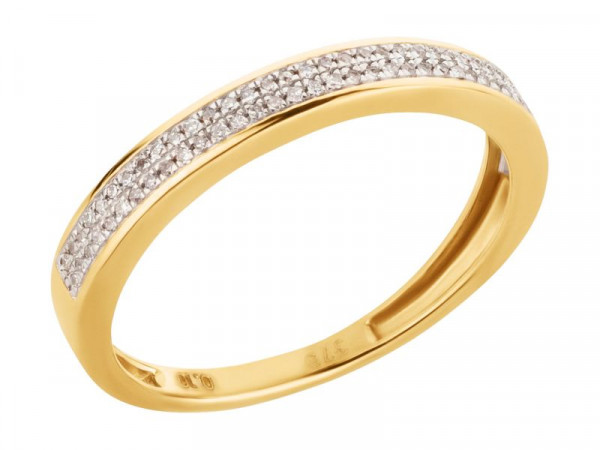 Damen-Ring, DALINO 375 Gold Memory Ring mit 0,10 ct Diamanten