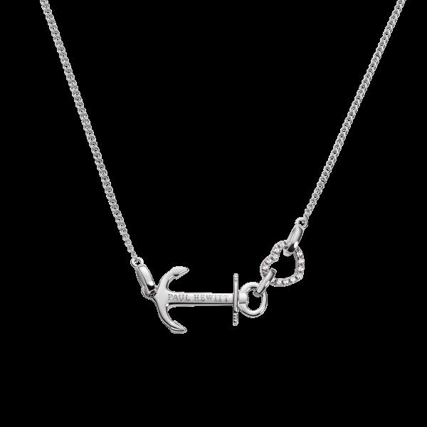 PAUL HEWITT Damen Halskette Anchor Love in925er Sterling Silber mit Anker